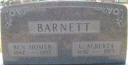 Lillie Alberta <I>Williams</I> Barnett