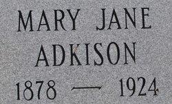 Mary Jane <I>Turner</I> Adkison