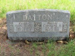 Caroline Hannah <I>Sparks</I> Dayton