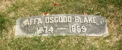 Affa <I>Osgood</I> Blake