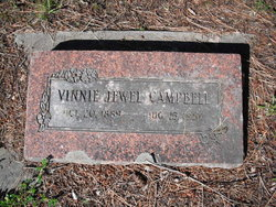 Vinnie Jewel <I>Cline</I> Campbell