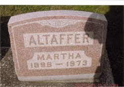 Martha A <I>Ricks</I> Altaffer