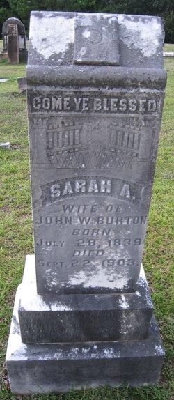 Sarah Ann Parthany <I>Hall</I> Burton