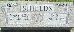 Mary Lou <I>Hartline</I> Shields