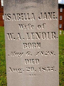 Isabella Jane <I>Hume</I> Lenoir