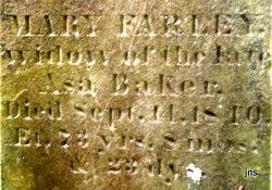 Mary <I>Farley</I> Baker