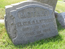 """Elizabeth A. """"Eliza"""" <I>Stephenson</I> Latimer"""