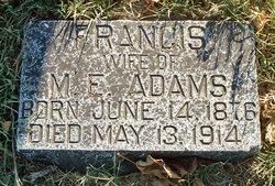 Frances <I>Tate</I> Adams