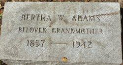 Bertha <I>Waldauer</I> Adams
