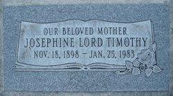 Josephine <I>Lord</I> Timothy