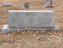 Mattie D <I>Wofford</I> Bell