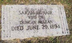 Sara <I>McNair</I> McLean