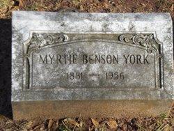 Myrtie <I>Benson</I> York