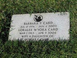 Barbara Yancey <I>Barney</I> Card