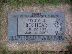 Peggy J <I>Strickland</I> Boshear