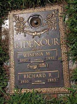 Winona M <I>Foreman</I> Ridenour