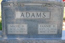 Fannie H <I>Hart</I> Adams