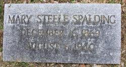 Mary Frances <I>Steele</I> Spalding