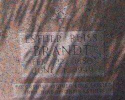 Esther <I>Reiss</I> Brandt