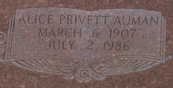 Alice <I>Privett</I> Auman