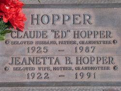 """Claude Eddie """"Ed"""" Hopper"""