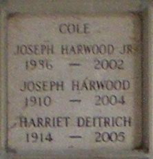 Harriet <I>Deitrich</I> Cole