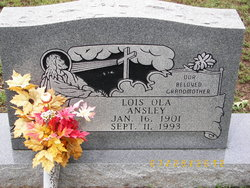 Lois Ola <I>Morse</I> Ansley