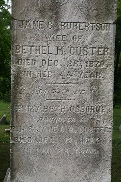 Jane C <I>Robertson</I> Custer
