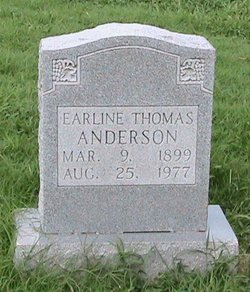 Earline <I>Thomas</I> Anderson