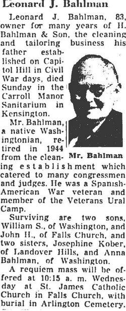 Leonard Joseph Bahlman, Sr