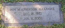 Iain McPherson Alexander
