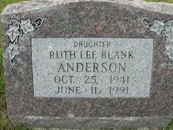 Ruth Lee <I>Blank</I> Anderson