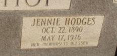 Jennie <I>Hodges</I> Bishop