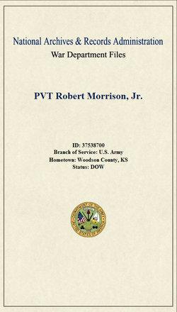 Pvt Robert Morrison, Jr