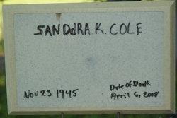 """Sanddra K """"Kay"""" <I>Lounsbury</I> Cole"""
