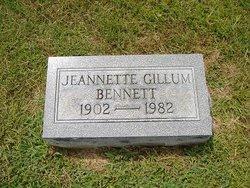 Jeanette <I>Gillum</I> Bennett