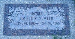 Emilie Katherine <I>Eichelman</I> Semler