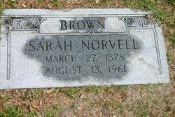 "Sarah ""Sallie"" <I>Norvell</I> Brown"