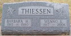 Barbara Hanna <I>Toews</I> Thiessen