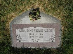 Geraldine <I>Brown</I> Allen