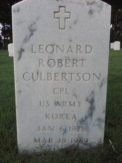 Leonard Robert Culbertson