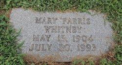 Mary <I>Farris</I> Whitney