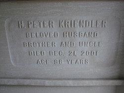 """Harold Peter """"Pete"""" Kriendler"""