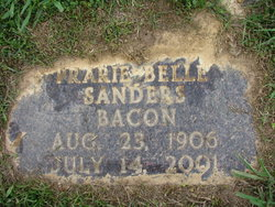 Prarie Belle <I>Sanders</I> Bacon