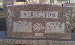 Mary Lorene <I>Walker</I> Arrington