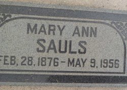 Mary Ann <I>Terry</I> Sauls
