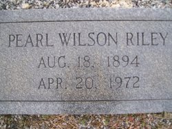 Pearl Dewey <I>Wilson</I> Riley