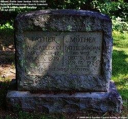 """Martha Henry """"Pattie Jane"""" <I>Jordan</I> Allison"""
