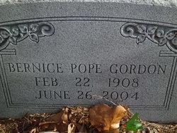 Bernice <I>Pope</I> Gordon