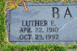 Luther E Baker